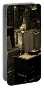 Downtown Chicago At Sunset Portable Battery Charger