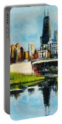 Downtown Chicago From Lincoln Park Portable Battery Charger