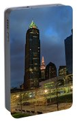 Downtown Cleveland At Dusk Portable Battery Charger