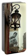 Downtown Detroit Light Fixture With Muhammad Ali Billboard Portable Battery Charger