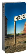 Downtown Hobson, Montana Portable Battery Charger