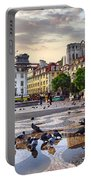 Downtown Lisbon Portable Battery Charger by Carlos Caetano