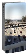 Downtown Los Angeles. 110 Freeway And Wilshire Bl Portable Battery Charger