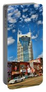 Downtown Nashville Blue Sky Portable Battery Charger