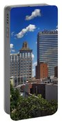 Downtown Winston-salem Under Fair Skies Portable Battery Charger