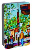 Downtowns Popping Portable Battery Charger