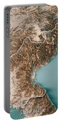 Dpr Korea 3d Render Topographic Map Neutral Border Portable Battery Charger
