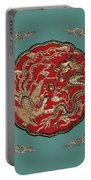 Dragon And Phoenix Portable Battery Charger by Kristin Elmquist