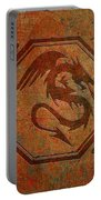 Dragon In An Octagon Frame With Chinese Dragon Characters Yellow Blue Tint  Portable Battery Charger