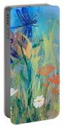 Dragonflies In Wild Garden Portable Battery Charger
