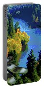 Dragonflight Over The Spokane River Portable Battery Charger