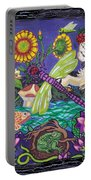 Dragonfly And Unicorn Portable Battery Charger by Genevieve Esson