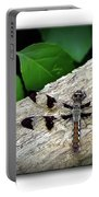 Dragonfly On Log Portable Battery Charger