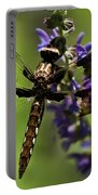 Dragonfly On Salvia Portable Battery Charger