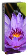 Dragonfly On Water Lily Portable Battery Charger