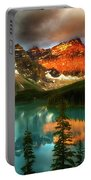 Drama Of The Canadian Rockies Portable Battery Charger