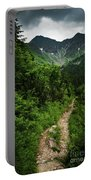 Dramatic Mountain Landscape With Distinctive Green Portable Battery Charger