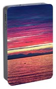 Dramatic Sunset Colors Over Birch Bay Portable Battery Charger