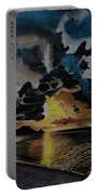 Dramatic Sunset Seascape Portable Battery Charger