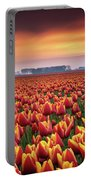 Dramatic Tulips Portable Battery Charger