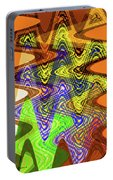 Drawing Color Squares Abstract Portable Battery Charger