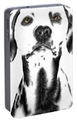 Drawing Of A Dalmatian Dog Portable Battery Charger