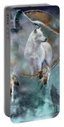 Dream Catcher - Spirit Of The White Wolf Portable Battery Charger