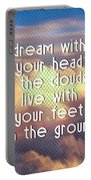 Dream With Your Head In The Clouds Portable Battery Charger