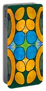 Dreaming In Circles Abstract Hard Candy Art By Omashte Portable Battery Charger