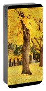 Dreamy Autumn Gold Portable Battery Charger