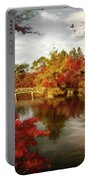 Dreamy Autumn Impressionism Portable Battery Charger