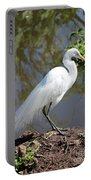 Dreamy Great Egret Portable Battery Charger