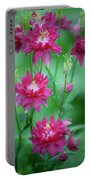 Dreamy Hot Pink Columbines Portable Battery Charger