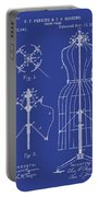 Dress Form Patent 1891 Blue Portable Battery Charger