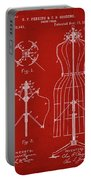 Dress Form Patent 1891 Red Portable Battery Charger