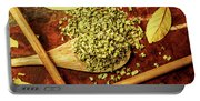 Dried Chives In Wooden Spoon Portable Battery Charger
