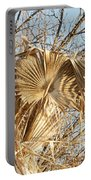 Dried Palm Fronds In The Wind Portable Battery Charger