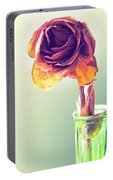 Dried Rose Portable Battery Charger
