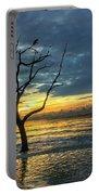 Driftwood Beach Sunrise Jekyll Island Georgia Portable Battery Charger