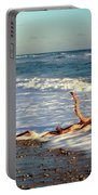 Driftwood In The Surf Portable Battery Charger
