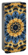 Dripping Gold Kaleidoscope Portable Battery Charger