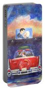 drivein movie theater art print by linda mears