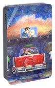 drivein movie theater painting by linda mears