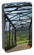 Driving Over Hanalei Bridge Portable Battery Charger