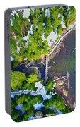 Drone Shot Of Lake 22 Bridge Portable Battery Charger