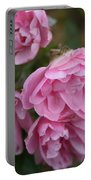 Droopy Pink Roses Portable Battery Charger