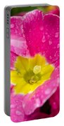 Droplets On Flower Portable Battery Charger