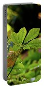 Drops On Plants After Morning Rain Portable Battery Charger