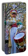 Drummer Boy  In Rockefeller Center Portable Battery Charger