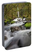 Dry Creek Falls In Springtime Portable Battery Charger